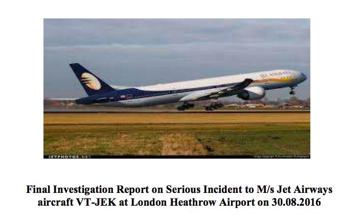 Human factor in jet Airways incident
