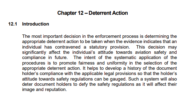 Enforcement manual extract