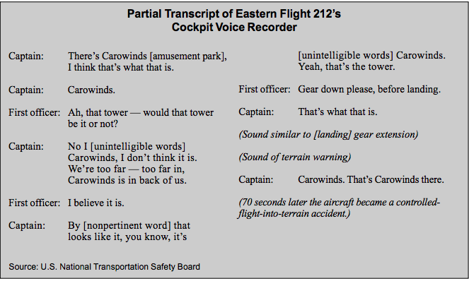 CVR extract of Eastern Airlines 212