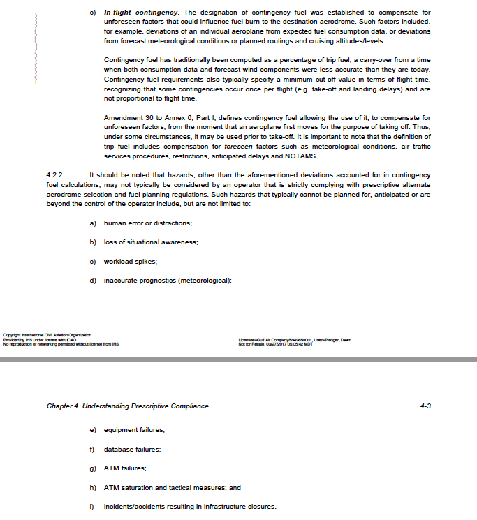 ICAO Doc 9976 fuel policy